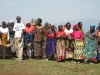 Women dancing to welcome visitors